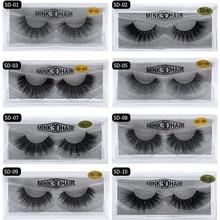 berckes Fake Lashes 1Pair 3D Mink Eyelashes Luxury HandMade Cilios Long Lasting Volume Lash Extension Reusable False Eyelashes