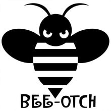 13.1CM*12.7CM Bee Otch Decal JDM Import Tuner Truck Girly Funny Car Stickers And Decals Accessories