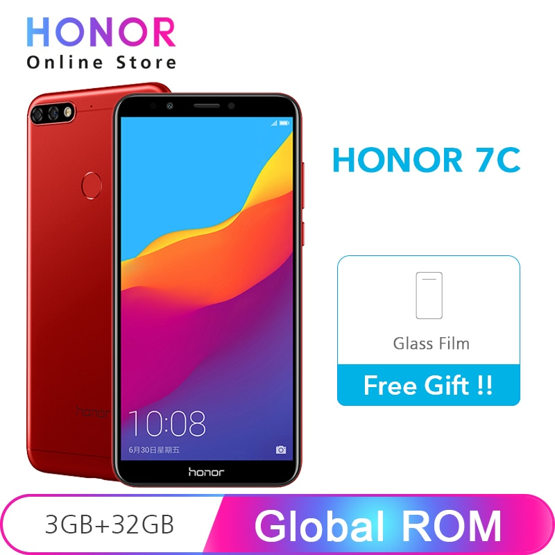 Honor 7C 3 ГБ 32 Snapdragon 450 Восьмиядерный 5 99 &quot1440x720 экран 13MP двойная камера отпечатков