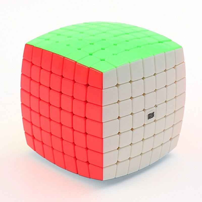 YJ MoYu AoFu 7X7X7 velocidad rompecabezas Cubo profesional giro cubos Cubo mágico clásico juguetes educativos de aprendizaje chico regalos con envío gratuito