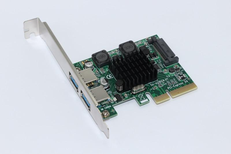 USB 3.1 PCI بطاقة Express 2 ميناء USB3.1 اسرع 10 جيجابايت في الثانية USB 3.1 PCI-E التوسع بطاقة محول ل كمبيوتر مكتبي مكونات