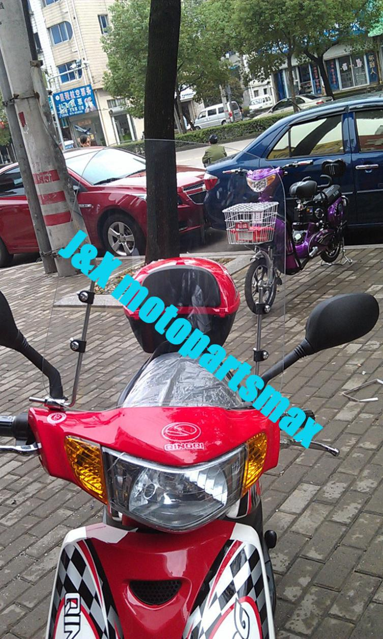 Parabrisas motocicleta GY6 SCOOTER ciclomotor minibici bicicleta motocicleta parabrisas Universal