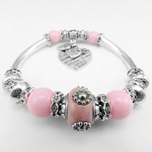 Bracelet en perles rouges mode indonésie perles coude Bracelet femmes en alliage dargent coeur Bracelet bijoux