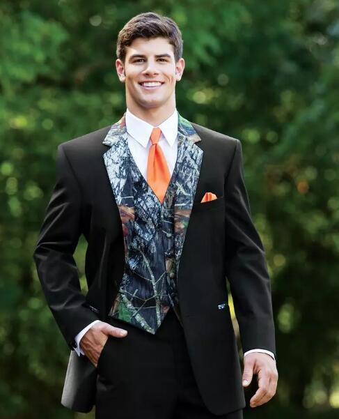 Новые камуфляжные смокинги, уникальные мужские свадебные камуфляжные костюмы на одной пуговице, подходит для лацканов с надрезом, одежда д...