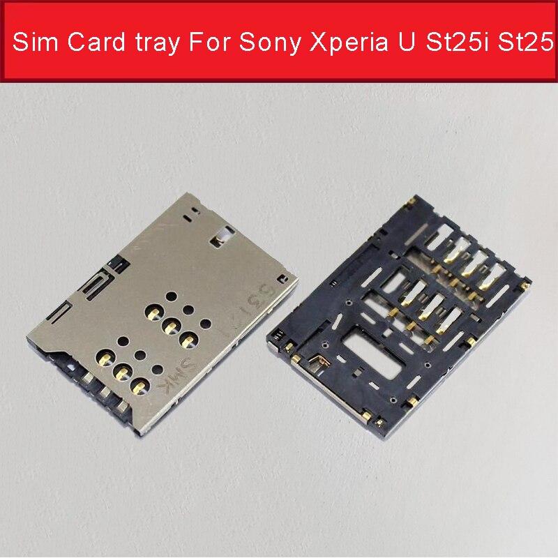 Bandeja de tarjeta Sim 100% auténtica para Sony Xperia U St25i St25,...