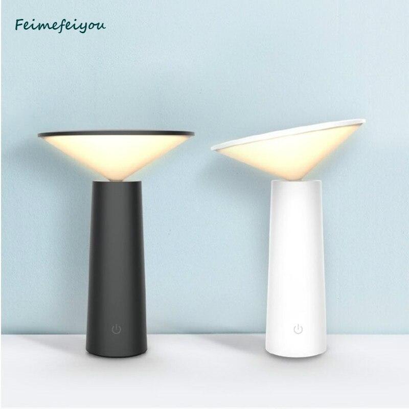 lampada interruptor de toque moderno 3 feimefeiyou modos de led mesa lampada de mesa