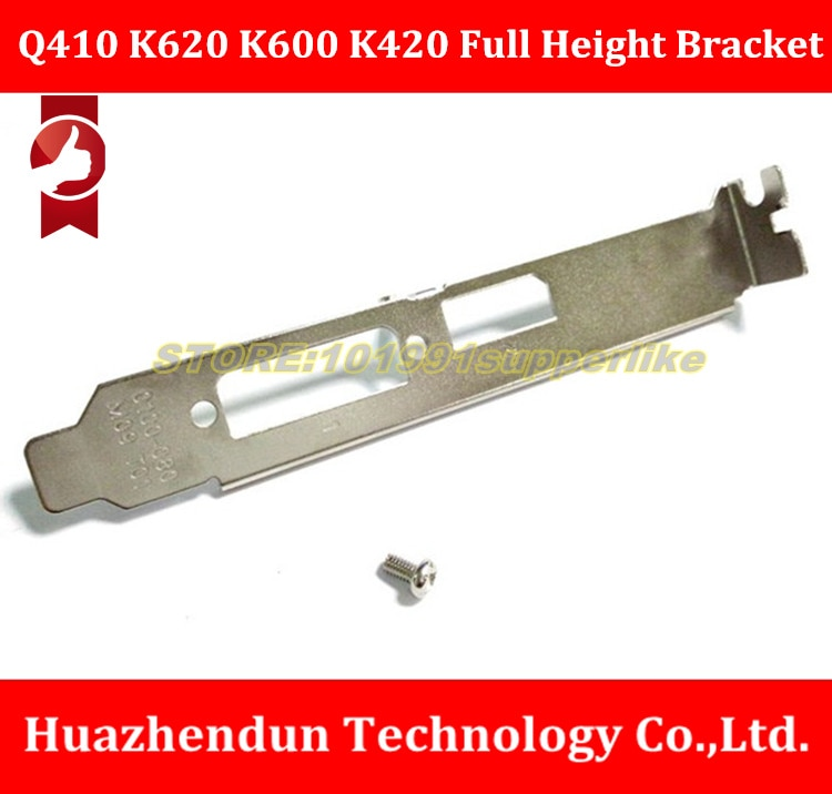 DEBROGLIE  Free shipping Full Height Bracket for nVIDIA Quadro Q410 K620 K600 K420 Video Graphics Card 12CM