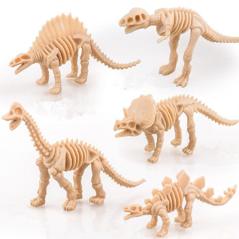 6 шт., симуляционные скелеты динозавров, миниатюрные динозавры, модель тираннозавра, фигурки Рекс, Детская развивающая игрушка, декор кукольного домика
