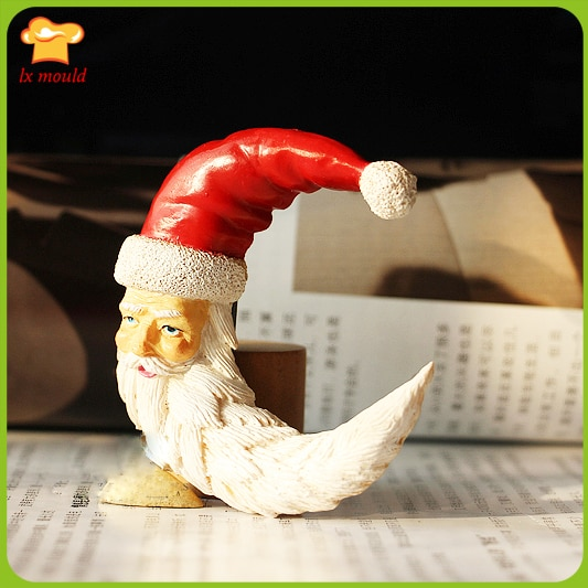 2016 Exclusive new Dry Peisi liquid silicone mold sugar cake mold Santa Claus modeling  - buy with discount