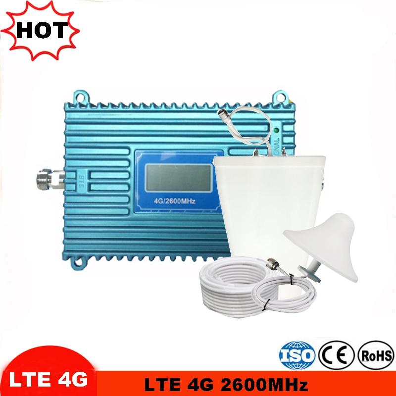 Pantalla LCD 4G LTE repetidor de señal celular repetidor 4G antena FDD 4G LTE 2600MHz banda 7 Kit repetidor y amplificador de señal móvil