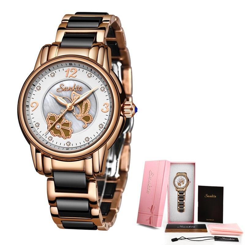 SUNKTA2019 New Listing Rose Gold Women Watches Quartz Watch Ladies Top Brand Luxury Female Watch Girl Clock Relogio Feminino+Box enlarge