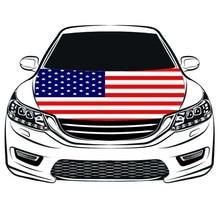 La couverture de capot des états-unis, drapeau de couverture de capot de voiture des etats-unis, drapeau de moteur, spandex 100%, tissu de projectile de quatre côtés