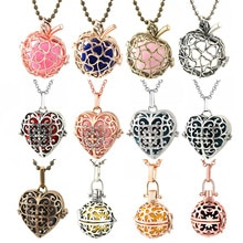 Mexique carillon en forme de coeur Vintage médaillon collier musique boule grossesse collier pour aromathérapie huile essentielle bijoux enceintes
