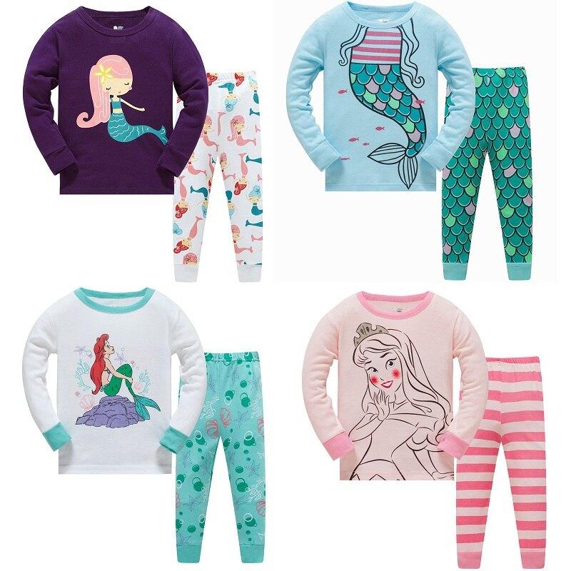 Kids Pajamas Set Children Sleepwear Baby Sets Girls Animal  Cotton Nightwear Kid Clothing
