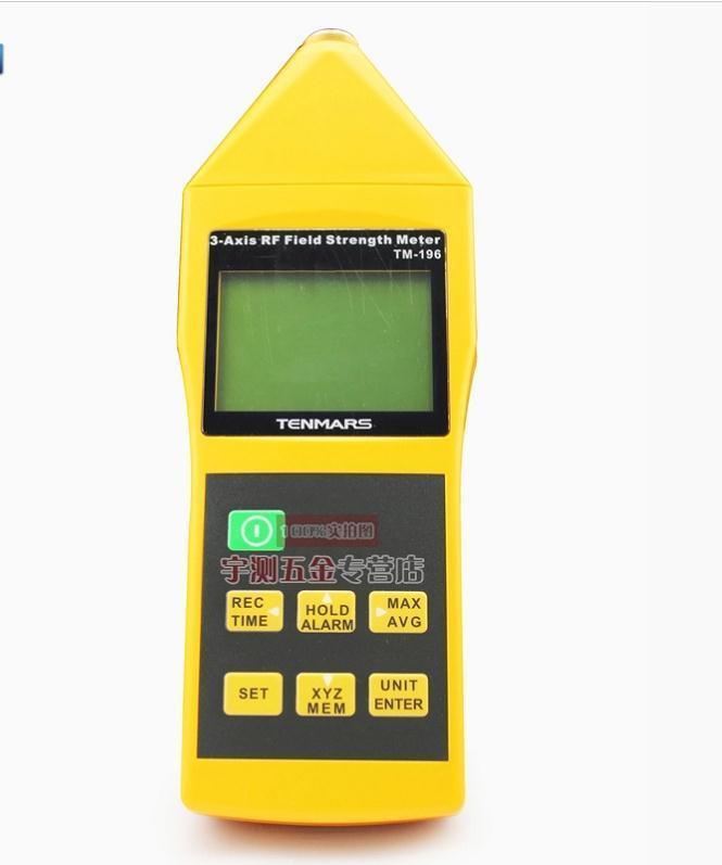 TM-196 10 MHz ~ 8 GHz 3 ejes Electrosmog campo RF microondas EMF probador medidor de intensidad de radiación electromagnética