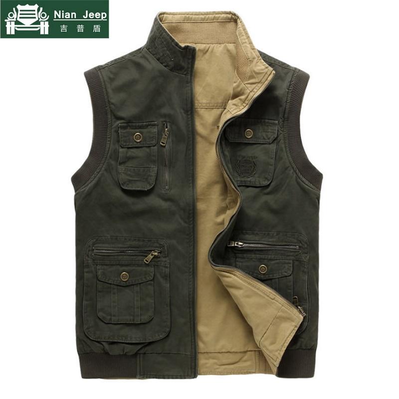 2020 New Brand Men Vest Sleeveless Jacket Men Military Mens Veats Casaco masculino Casual Multi Pocket Photographer Waistcoat