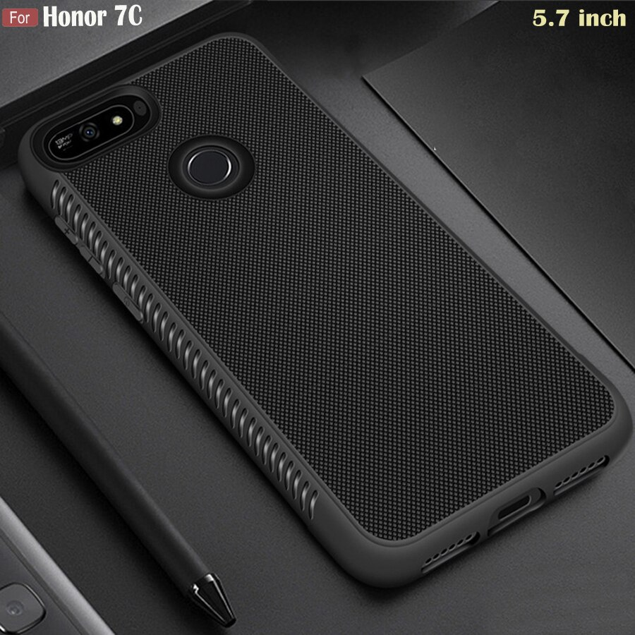 "JFVNSUN Huawei Honor 7C 5,7 ""funda AUM-L41 delgada antideslizante mate suave TPU armadura de silicona funda protectora para Huawei Honor 7C"