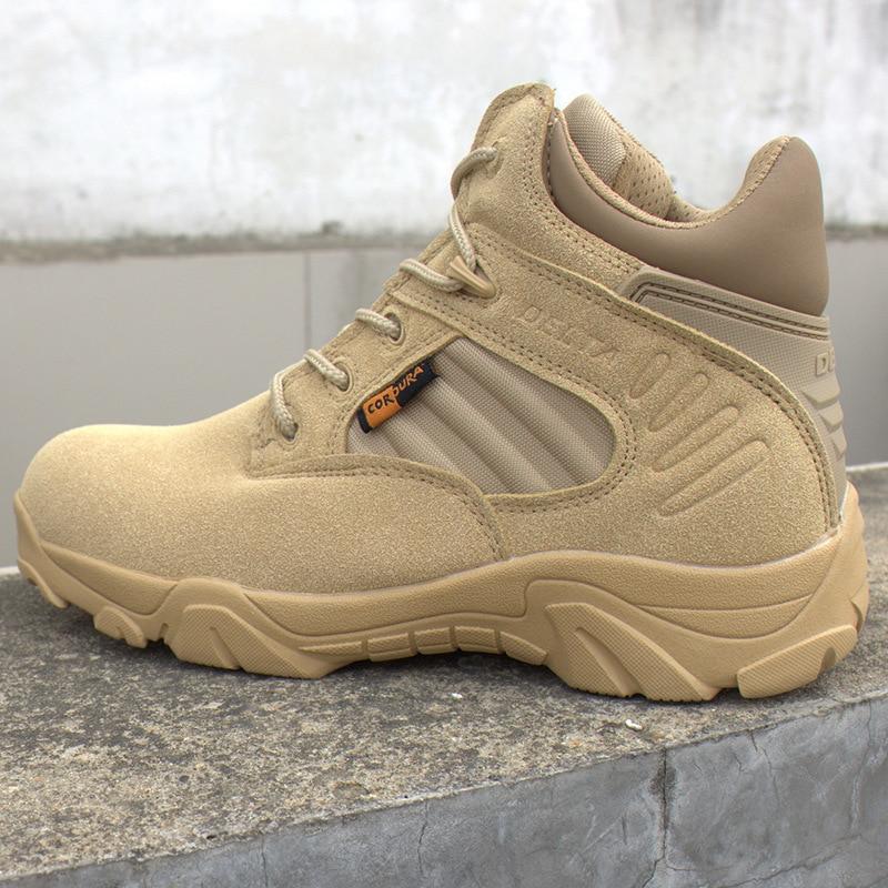 أحذية الرجال دلتا شتوية للسفر في الهواء الطلق, أحذية عسكرية ، هجوم ، أحذية تكتيكية ، أحذية رياضية سوداء للرجال ، أحذية قتالية خاصة للصحراء