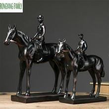 Sculpture en résine style guerrier rétro européen   Sculpture en résine, samouraï médiéval, Statue de bataille cheval, accessoires de décoration pour la maison et le bureau