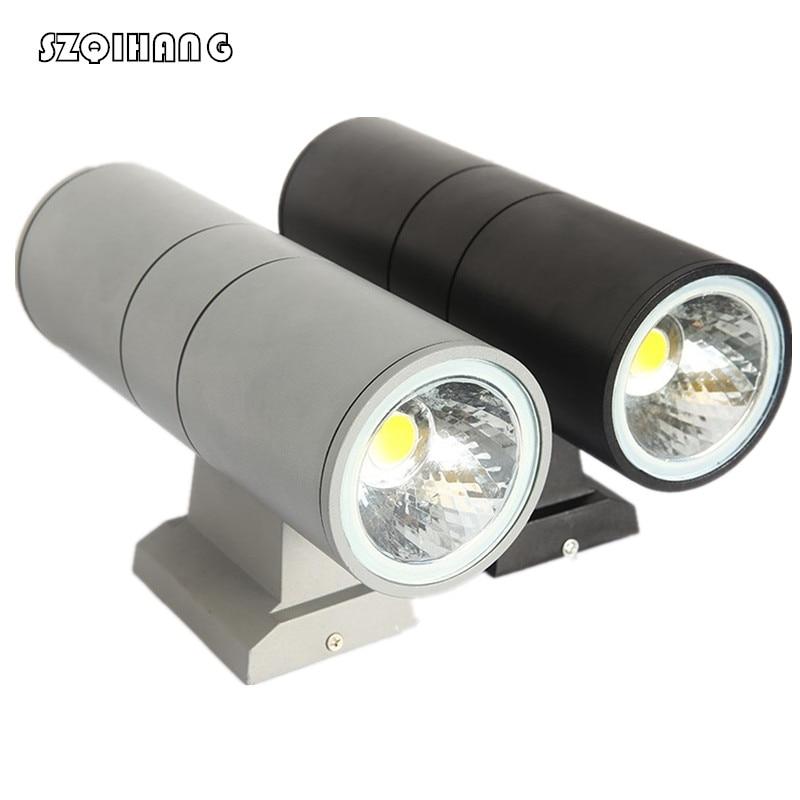 Double COB LED wall light 10W/20W /30W /40W Outdoor Wall Light Lamp Waterproof IP65 Gray Black Shell