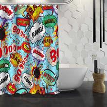 Heißer Verkauf Custom Comic Pop Kunst Dusche Vorhang Wasserdichte Stoff Dusche Vorhang für Bad F # Y1-17