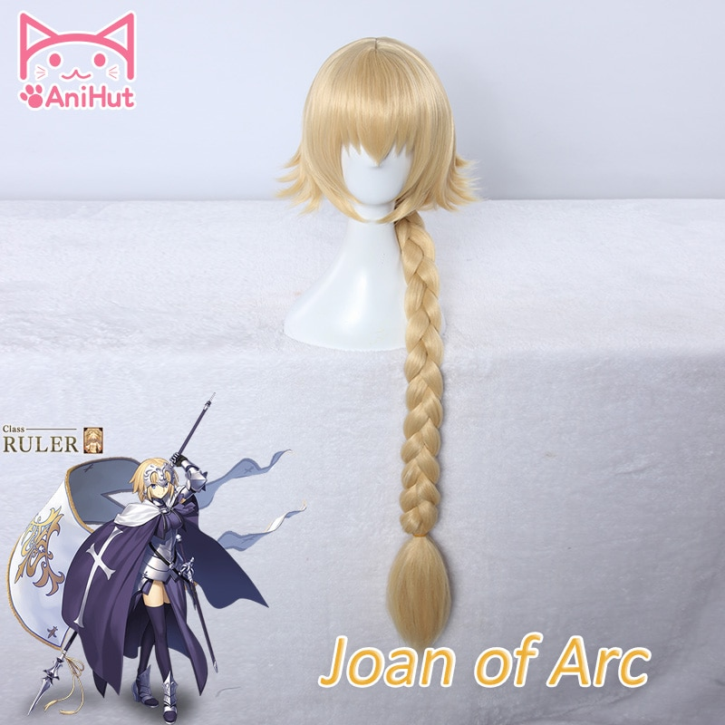Joana do arco peruca fate grand order cosplay peruca fate/zero cabelo jeanne darc arc peruca cabelo loiro