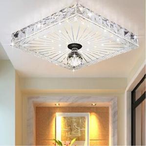 luxury Crystal Led ceiling lights restaurant aisle living room balcony lamp modern lighting for home decoration Adjustable light