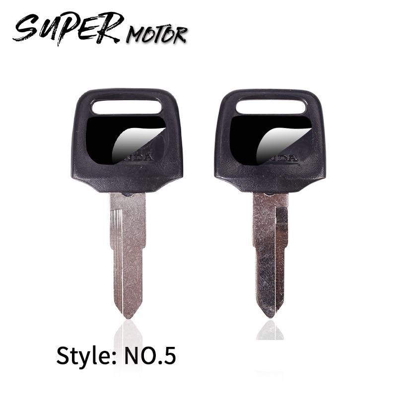 Nueva llave de repuesto de Motocicleta sin cortar para HONDA scooter 50CC llaves de motocicleta DIO Z4 125 SCR100 WH110