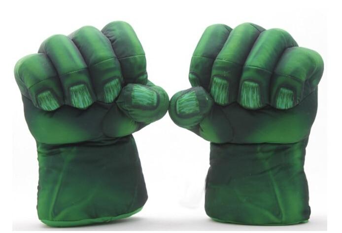 "Free Shipping 1set The Incredible Hulk Spider-Man Plush Gloves 11"" Superhero Figure Toys Kids Children Christmas Toy Gifts"
