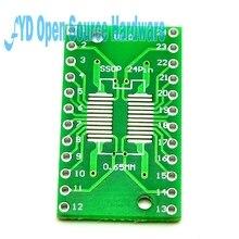 10 pièces SOP24 SSOP24 TSSOP24 à DIP24 PCB Pinboard SMD à DIP 0.65mm/1.27mm à 2.54mm DIP Pin Pitch PCB carte convertisseur prise