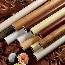 Vinyl Dekorative Film PVC Selbst klebe Tapete Holz Kontakt Papier für Küche Schränke Abdeckung Home Decor Wasserdichte Wand Papier
