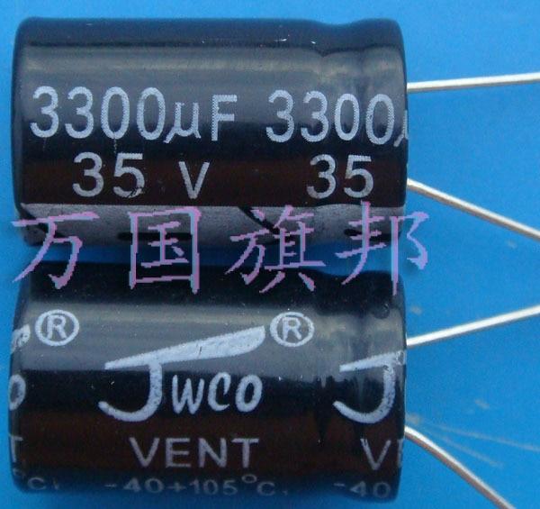 ¡Entrega Gratuita! 35 v 3300 uf condensador electrolítico 3300 uf 3300 uf