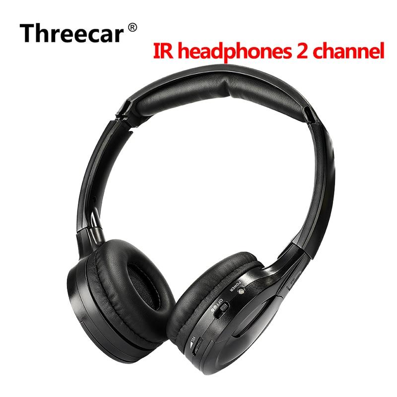 IR Infrared Wireless headphone Stereo Foldable Car Headset Earphone Indoor Outdoor Music Headphones TV headphone 2 channel