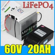 60 v 20ah lifepo4 batterie pour vélo électrique Scooter 1000 W 1500 W 2000 W moteur batterie