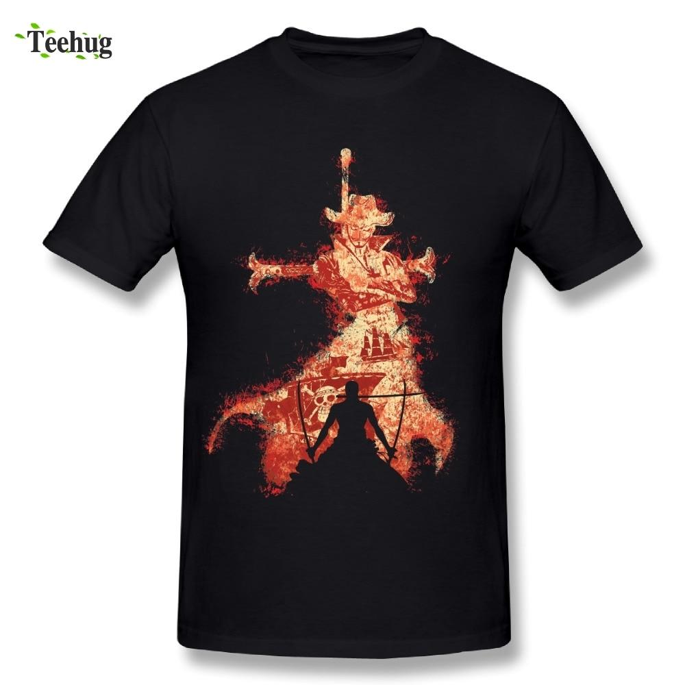 Nuevo diseño, camiseta para hombre, el más grande Rival Mihawk Roronoa Zoro, Camiseta cómoda de algodón elegante de una pieza