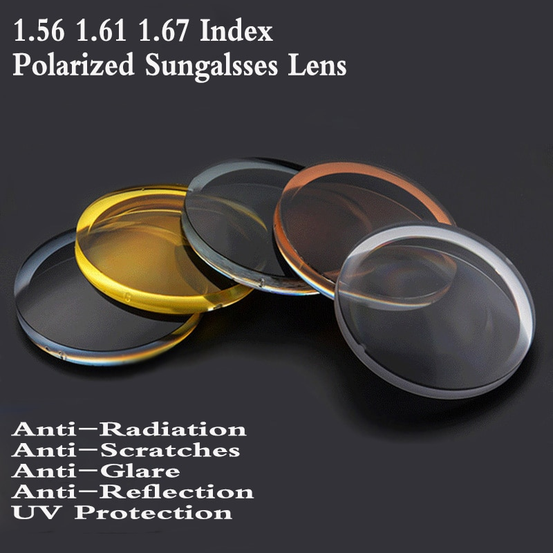 chashma anti reflective 1 67 index lens thin recipe optical prescription lenses for eyes super quality clear lens for recipe 1.56 1.61 1.67 Index Aspheric Polarized Sunglasses Optical Prescription Lens Myopia Presbyopia Recipe Glasses Lens FT0007
