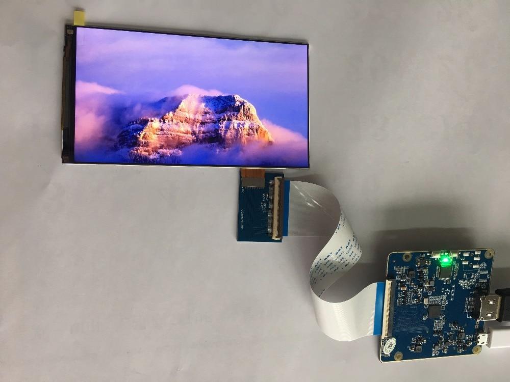Pantalla LCD de 5,5 pulgadas 2560*1440 1440p con hdmi a mipi para gafas de realidad virtual dk2 DIY para impresora 3d raspberry pi 3