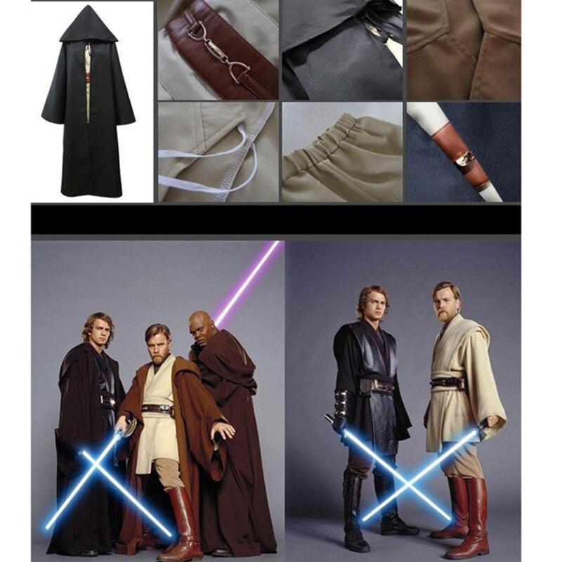 Anime de Star Wars 2018, Maestro Jedi, Obi Wan/Ben Kenobi Jedi/Sith Anakin Skywalker, capa de disfraz para Cosplay, Túnica, trajes de fiesta de Halloween