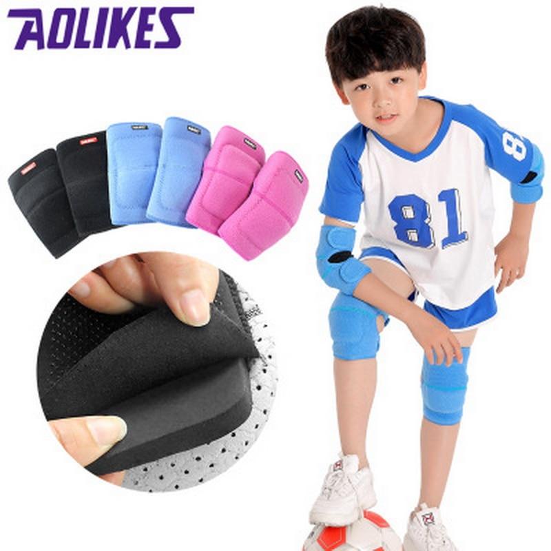 AOLIKES/детский спортивный налокотник и наколенник, комплект, толстая губка, наколенник для танцев, налокотник, поддерживающий наколенники для детей