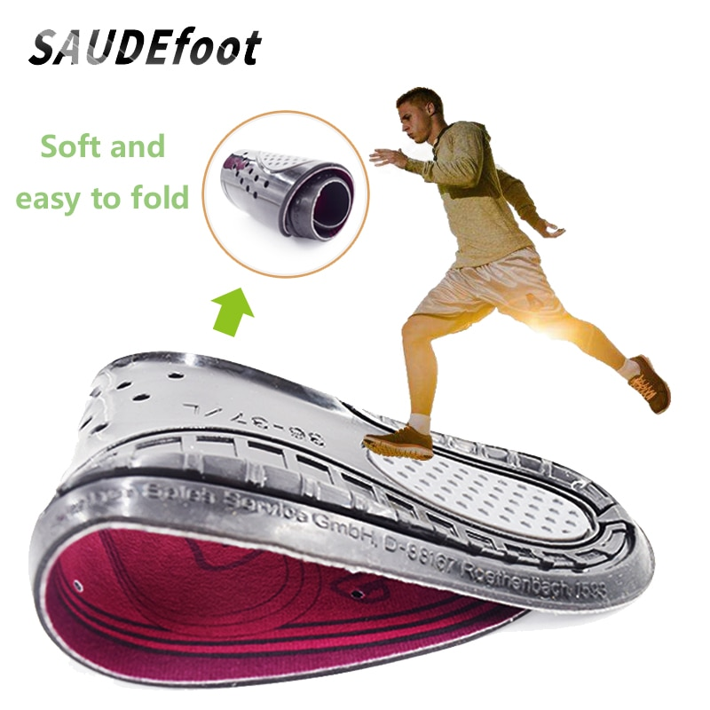 Saudefoot Breathable Soft Gel Shoe Insoles Shock-Absorbant High Elasticity Honeycomb Sport Foot Pad Soles Insert Accessories