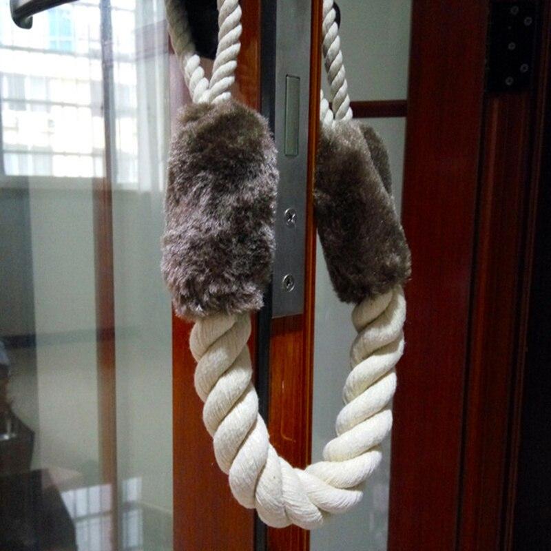 Tope de puerta, cuerda de algodón para manijas de puerta, tope de cable y ganchos, puertas de cierre cerrado, accesorios de decoración del hogar Cuneo
