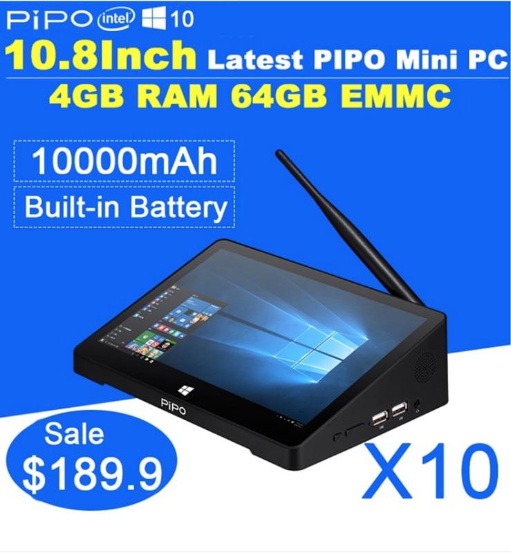 PIPO X8 двойной OS сенсорный экран мини ПК планшет Intel Z3736F четырехъядерный Windows 8,1 Android 4,4 2G RAM 32G SSD