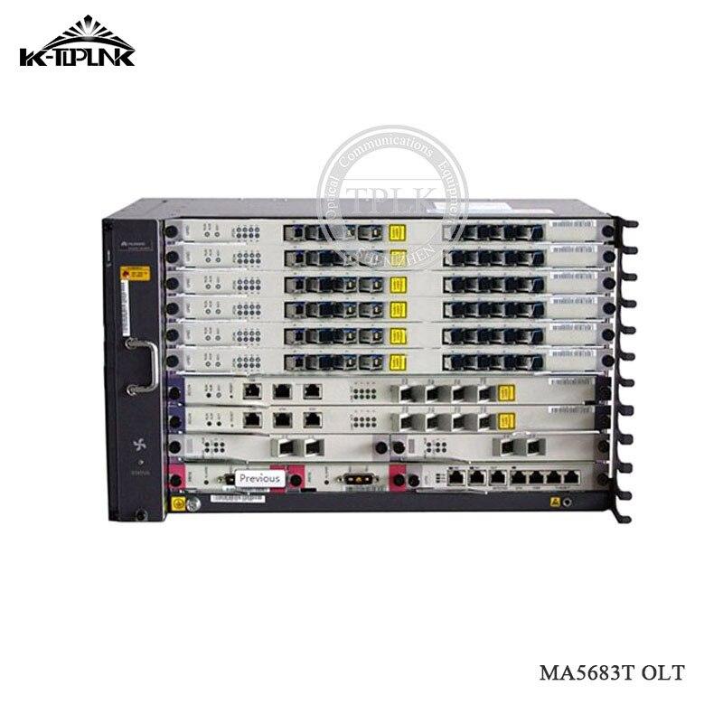 Terminal de línea óptica HUA WEI MA5683T GPON OLT 2 uds. SCUN,2 uds. 10G X2CS uplink,2 uds PRTE,1 Uds. 8 puertos GPBD C +, MA5683T GPON OLT