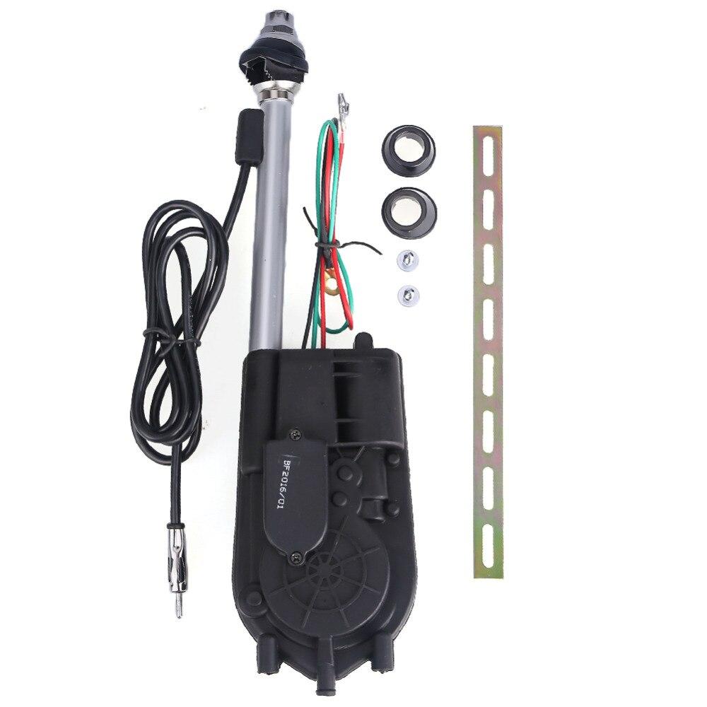 Antena retráctil Universal para coche, antena aérea para coche, Radio eléctrica, Carro 12V FM/AM, antena retráctil aérea automática, 2017