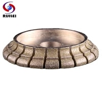 rijilei 140mm electroplated diamond edge profile wheel for marble granite stone edge profile diamond grinding wheel de02