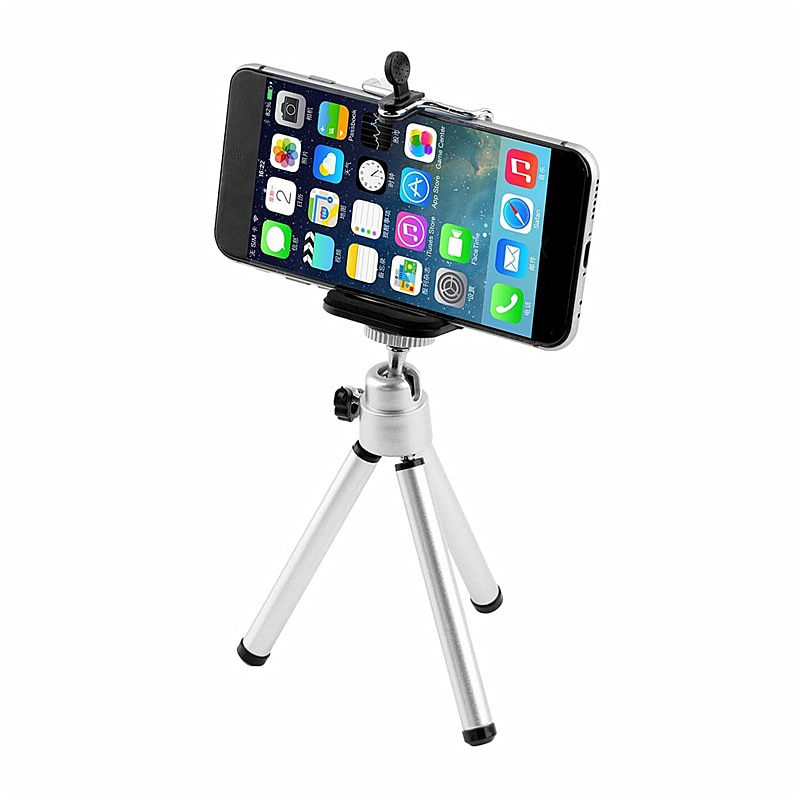 Portátil giratorio 360 superligero Universal Mini soporte trípode soporte para móvil de coche para iPhone SE