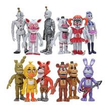12 шт./компл. FNAF Five Nights At Freddy's Funtime Toy Бонни Фокси, медведь Фредди, эннард, Весенняя ловушка, Детские экшн-фигурки
