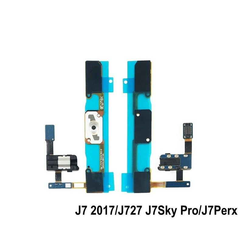New For Samsung J7 2017/J727 J7Sky Pro/J7Perx Home Button Flex Cable Menu Return Key Repair Parts
