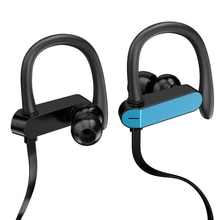 مشبك الأذن السلكية ستيريو سماعة أذن رياضية سماعة ضد الصدمة تشغيل سماعات مع مايكروفون ل IOS الروبوت الهواتف
