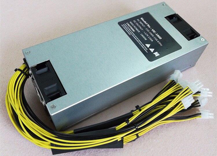 1800 W de alta potência de canal único de alimentação 6PIN * 10 Antminer dupla fã único 12V-150A antminer S9 S7 L3 TRAÇO mineiro pow
